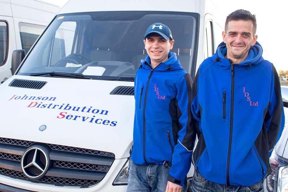2 Distribution Workers with Van