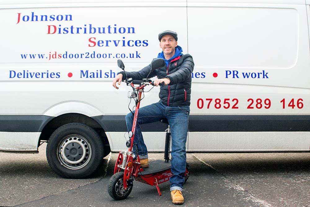 Distribution Van and Scooter in Edinburgh