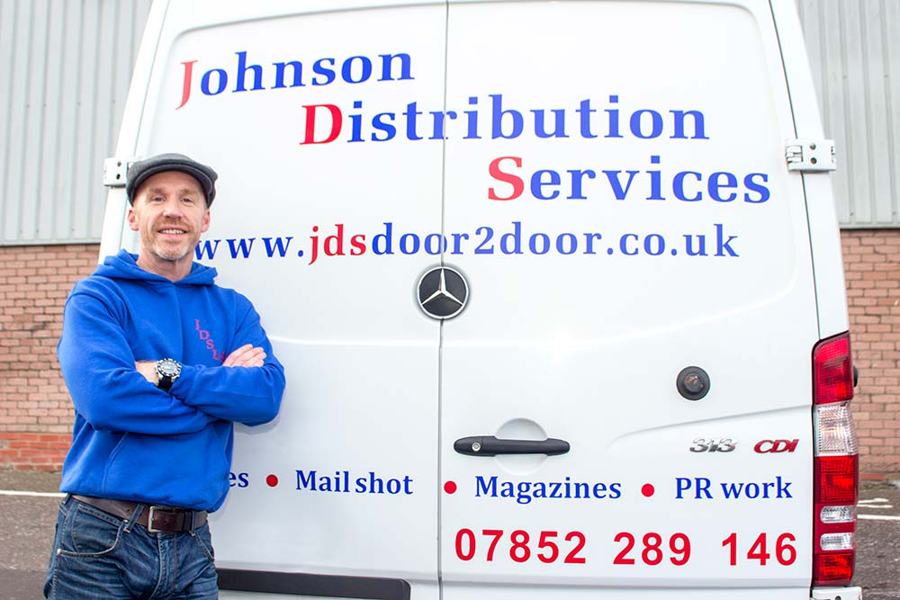 Owner Curtis with JDS Delivery Van